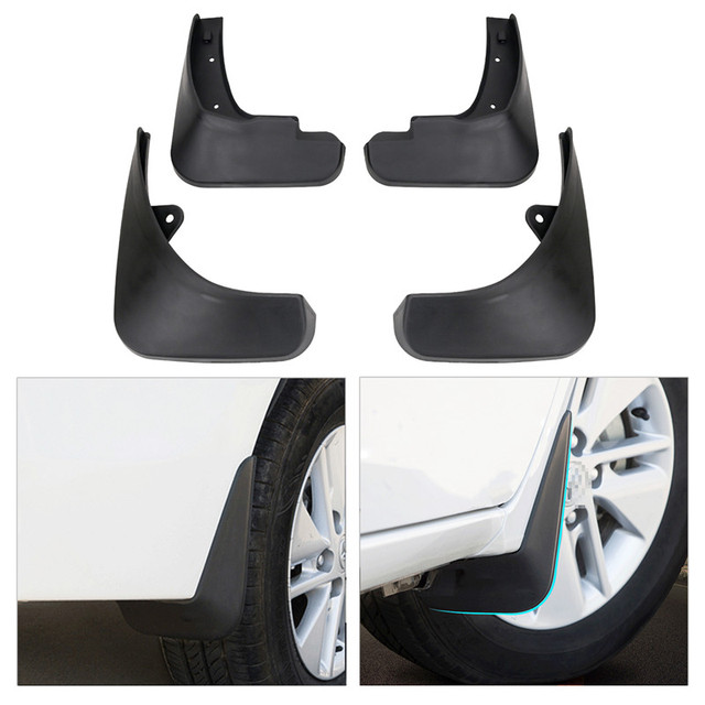For Ford Focus St Front Rear Fender Splash Guards Rubber Mud Flaps 2017 Car Mudguards Styling
