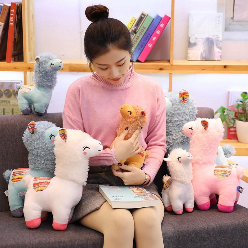 Lovely 25 35cm Alpaca Llama Plush Toy Doll Animal Stuffed Animal Dolls Soft Plush Alpaca For Kids Birthday Gifts 4 Colors in Stuffed Plush Animals from Toys Hobbies