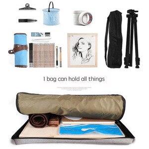 Image 5 - Büyük sanat çantası çizim tahtasında boyama seti seyahat kroki çantası çizim araçları sanatçı tuval boyama sanat malzemeleri