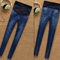 2016 новый осень зима материнства тонкий брюки одежда для беременных беременность джинсы беременные брюки женщины брюки M551