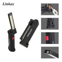 Новый складной USB походный фонарь фонарик Рабочая лампа перезаряжаемая Встроенная батарея с крючком магнит для кемпинга рыбалки