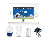 868MHZ Touch Keypad LCD GSM PSTN Wireless Security Home Office Burglar Intruder Alarm System W Indoor