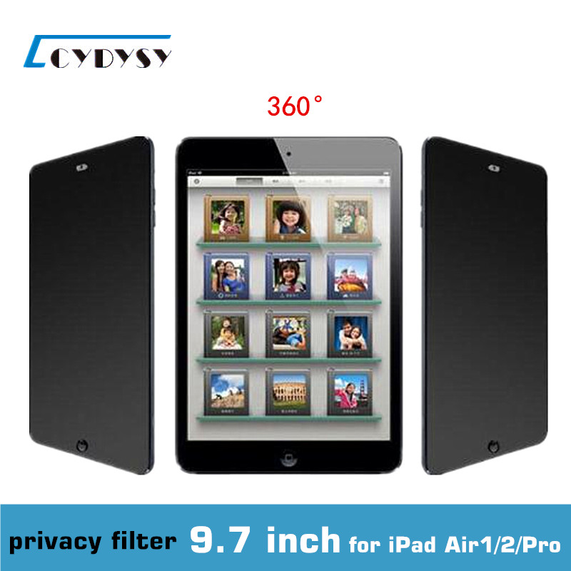 9.7 inch PET materia 360 degree <font><b>Privacy</b></font> Screen Tablet PC Protector <font><b>Filter</b></font> Film for <font><b>iPad</b></font> <font><b>Air</b></font> 1/2/ Apro (165x237mm) free shipping