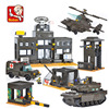 Compatible With Lego Building Block Set Sluban B7100 The Army Unit Tank Model Brick Toys Educational