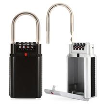 Большая емкость 4 Циферблат хранения ключей комбинации замка безопасности Lock Box для doorfor Главная Открытый безопасный