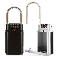 Big Capacity 4 Dial Key Storage Combination Padlock Security Lock Box For Doorfor Home Outdoor Safe