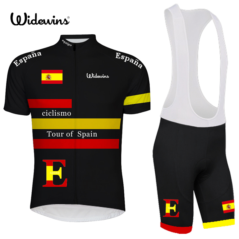 Spain 2018 black cycling jersey wear/best 2017 pro polyester cycling clothing/summer men quick dry bicycle wear widewinsSpain 2018 black cycling jersey wear/best 2017 pro polyester cycling clothing/summer men quick dry bicycle wear widewins