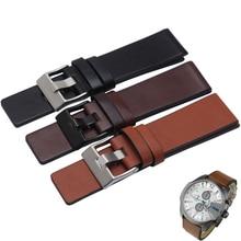 22 24 26 28 30mm Genuine leather bracelet watch strap watchband wristwatches band for DZ7313 DZ7322 DZ7257 belt brown color