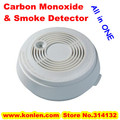 Free shipping 2 in 1 smoke and carbon monoxide detector for home,shop etc CO and smoke fire alarm