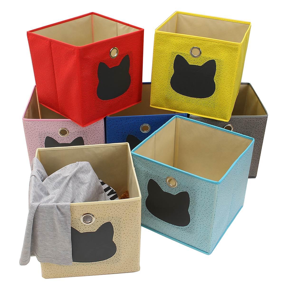Non Woven Collapsible Kids Toys Storage Boxes Children Toys Storage Box Bin  Home Playroom Sundries Organizer