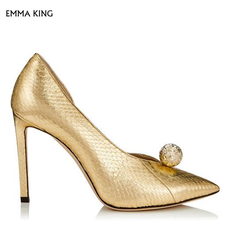Perle Femme 43 Hauteur Taille Pompes Diamond 10 35 Talon Pointu amp; Cocktail Bout Sapato Feminino La Gold Plus Chaussures Talons Or Party Cm Avec Cut 1FqwnYAg8x