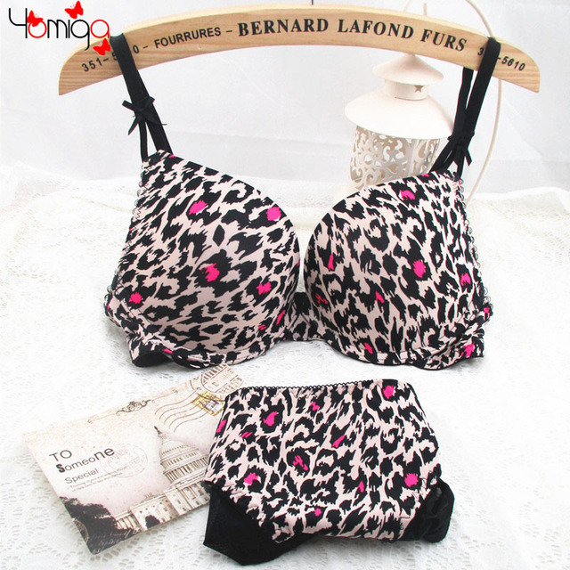 5e4c885b52b3b CLEARANCE SALE Plunge Leopard Bra Underwear Sets For Women Printing Ladies  Sexy Bra Lingerie Cheap Push Up Bra And Brief Sets