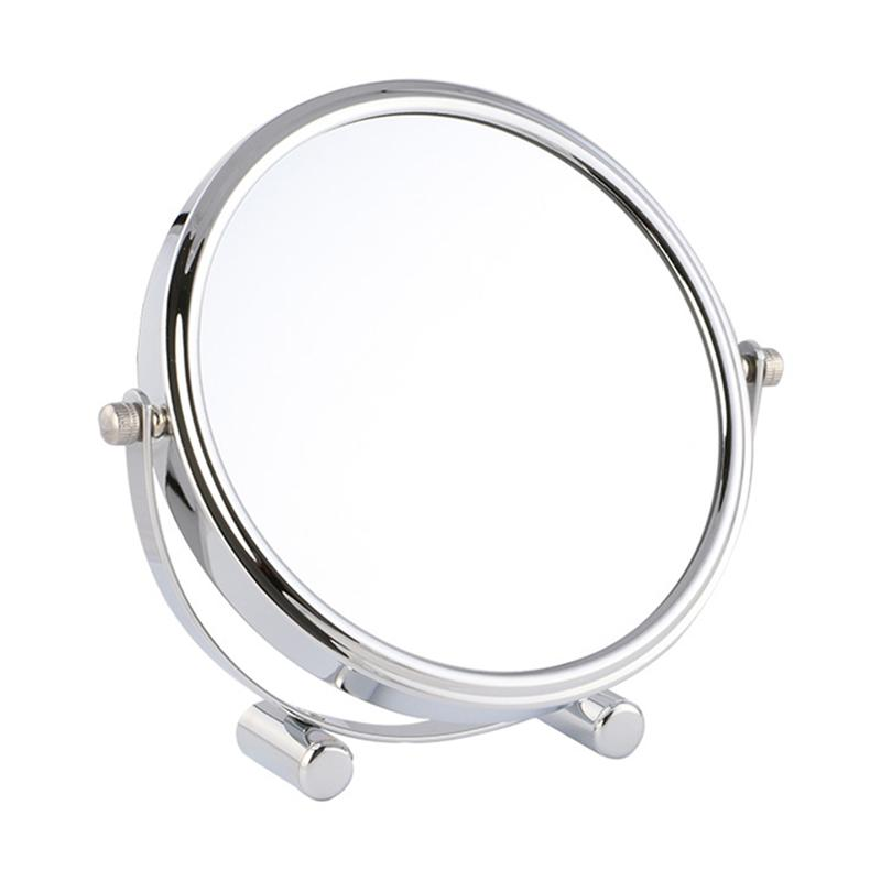 7 inch 1X/3X Desktop Double-sided Makeup Mirror 360 Degree Swivel Cosmetic Mirror Portable Simple High definition Magnification 8 inch fashion high definition desktop makeup mirror 2 face metal bathroom mirror magnifying 360 degree rotating mirror