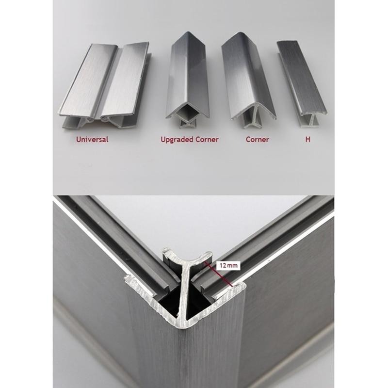 20Pcs/Lot Kitchen Plinth Corner Connector For Kicker Toekick Panel Connecting Brush Aluminum Foil PVC Panel