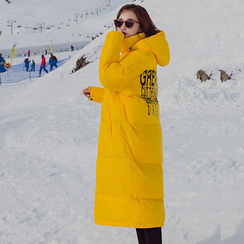 SVESIA Winter Women's   Parkas   Trend Letter Hooded Women   Parka   Coats Jackets
