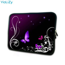 Purple Butterfly 7.9 Notebook sleeve tablet case 7 Laptop Bag cover mini computer Protective Skin for ipad 4 TB-5083