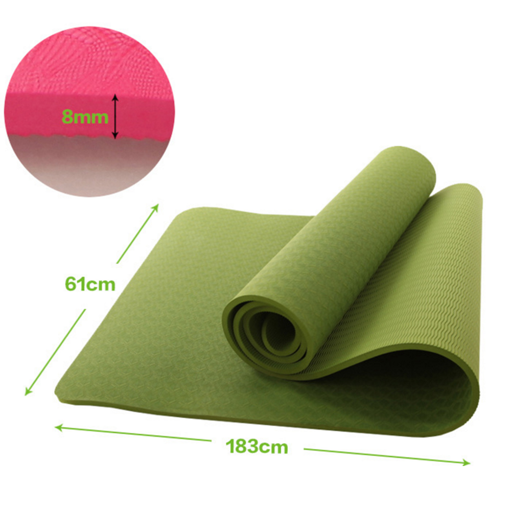 8mm None Slip Fitness Tpe Yoga Mat Thickened Gym Sport Mats 183x61x 0 8cm For Beginners Eco Friendly Blanket Pad Tpe Yoga Mat Yoga Matsport Mat Aliexpress