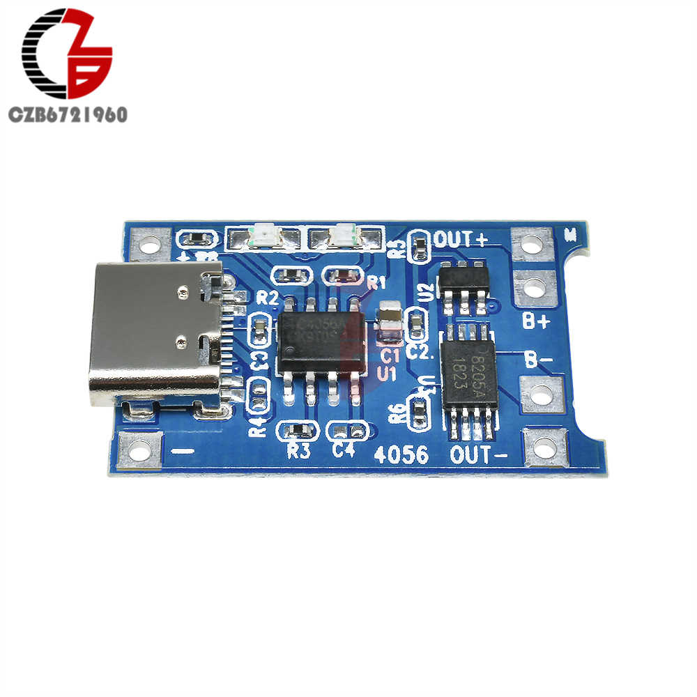 Type-C TP4056 18650 lithium battery charging board 5V 1A protection module`RR