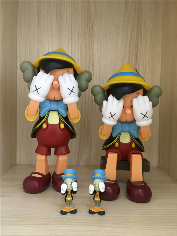 3a882a70 Detail Feedback Questions about 10inch 26cm standing 8inch sitting Pinocchio  Puppet medicom action figures toy for children KAWS Dissected companion on  ...
