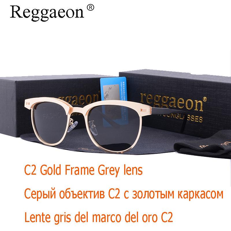 6e48252c99a38c Reggaeon Nieuwe Ronde Aluminium magnesium Zonnebril Gepolariseerde Mannen  Rijden Bril Travelling Polarised Eyewear Vintage Stijl UV400 in Reggaeon  Nieuwe ...