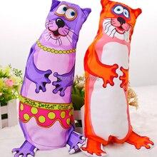 Fatcat в виде толстого кота; выдра бутылка, наполненная игрушки для собак, игрушки для домашних животных Прямая поставка от производителя, собачьих зубов очистки звуковой игрушки