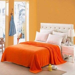 Image 3 - CAMMITEVER Solid Color Flannel Blanket Adult Warm Blanket Super Soft Coral Fleece Blanket Adult Double Bed Sofa