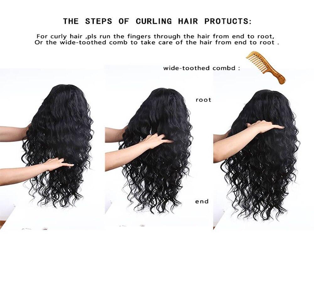 14-18 polegada jerry curl tecer cabelo sintético