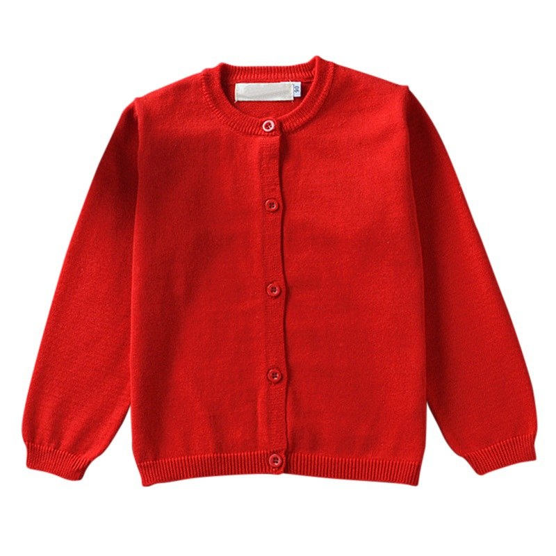 Candy Colors 2018 Høst Vinter Baby Girls Gutter Strikket Cardigan Gensere Barn Cotton Baby Children Clothing Outerwear