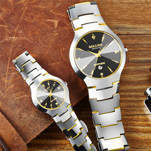Couple Watches Business Man Watch Authentic Steel Waterproof  Sollen Mens Watches Top Brand Luxury Brand Quartz Gift Watch