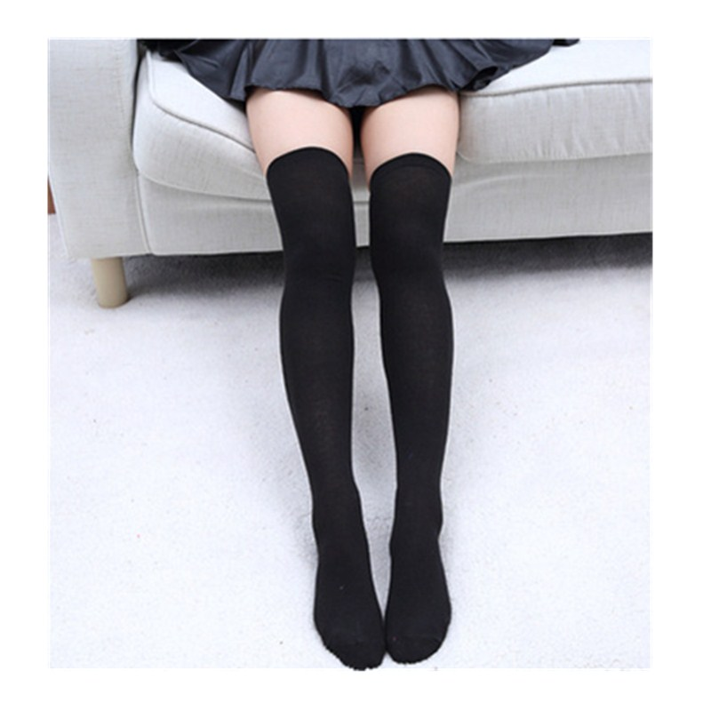 fc30e64a91f Detail Feedback Questions about 2018 Sexy Knee Socks Warm Stocking Cotton Thigh  High Women s Stockings Knee High Socks Women Solid Color Female Boots ...