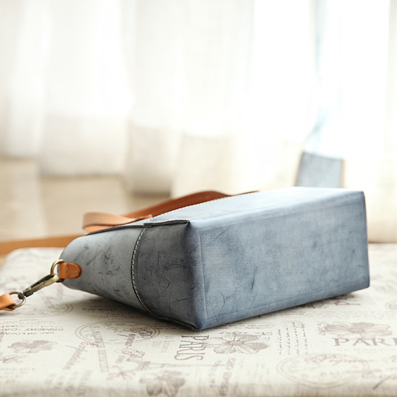 YIFANGZHE Mini Women Genuine Leather Crossbody Bags , Vintage Shoulder Ladies Bags Cowhide Bags with Wax  Finish Roomy phone