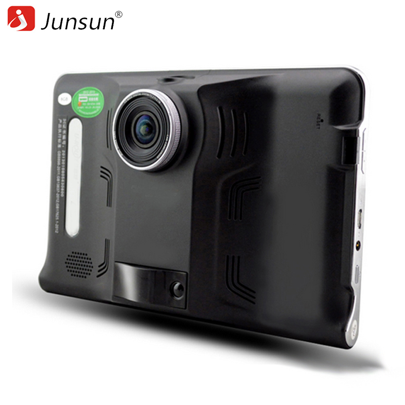 Junsun 7 inch Car GPS Navigation Android 4 4 DVR Radar Detector with GPS Navigator 16GB