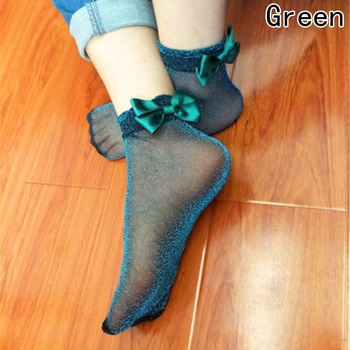 Bow Tie Cute Glitter Bow Knot Socks