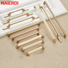NAIERDI Solid Zinc Alloy Gold Cabinet Handles for Furniture Drawer Knobs Cabinet Pulls Decorative Home Decor Hardware