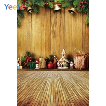 Yeele Professional Photography Backdrops Wood Board Planks Bell Gift Christmas Matsue Photographic Backgrounds For Photo Studio