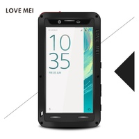 Note7 Love Mei Powerful Shockproof Dirtproof Waterproof Rugged Gorilla Glass Metal Aluminum Case For Samsung Galaxy