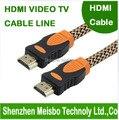 Высокая плотность Сети с магнитной ленты Позолоченный штекер плоским HD разъем монитора 1.4 В 3 М 10ft Кос ТВ HDMI кабель для ноутбука