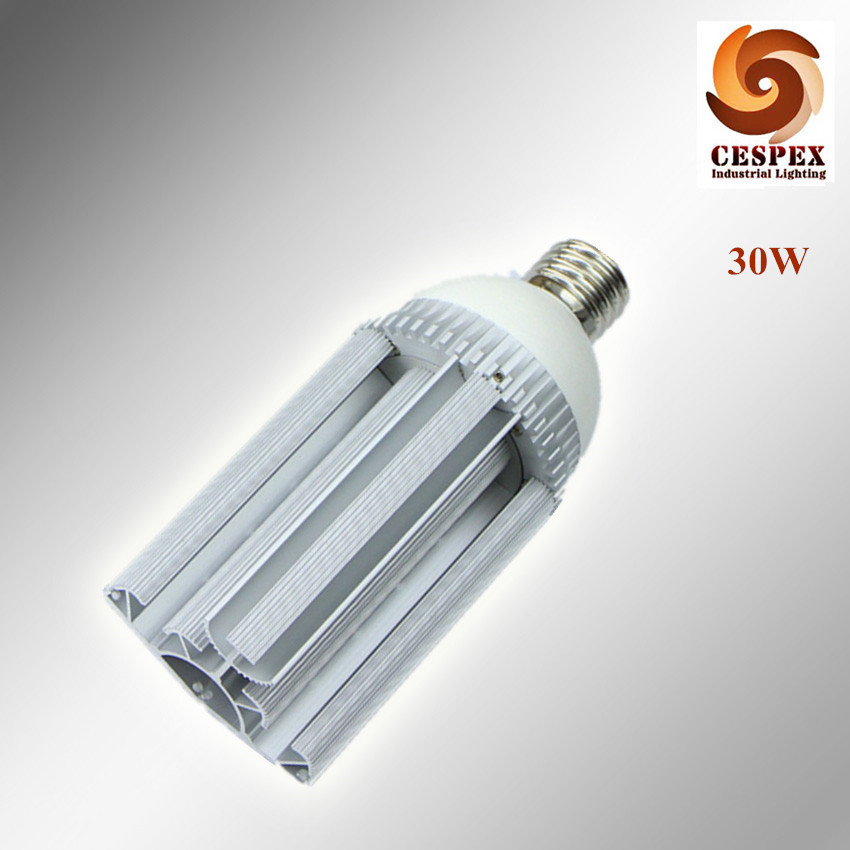 High quality aluminum alloy body 110lm/w high efficacy AC110V 220V 240V E40 30W LED street lamp replace 100W HPS metal halide efficacy of cpp acp