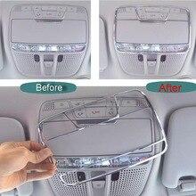 1 ШТ. Стайлинга Автомобилей Новый DIY ABS Хром Readlight Свет Коробки Чехол для Benz C Класса W205 C180L C200L Часть Аксессуары
