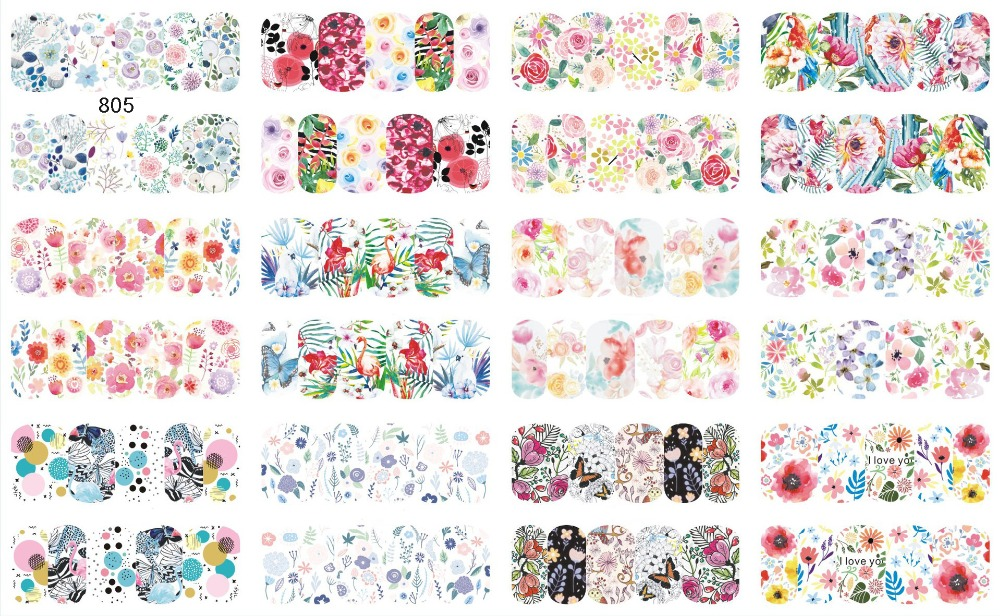 12packs/sheet 3D Water Decals Nail Art Stickers Various Dream catcher/birds image on Nails of Dandelions Stickers Manicure  Z022