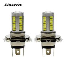2 шт. H4 светодиодный противотуманный фонарь высокий белый светодиодный фары лампы DC12V 33SMD 8 Вт DRL светодиодные дневные ходовые огни, автомобильные аксессуары