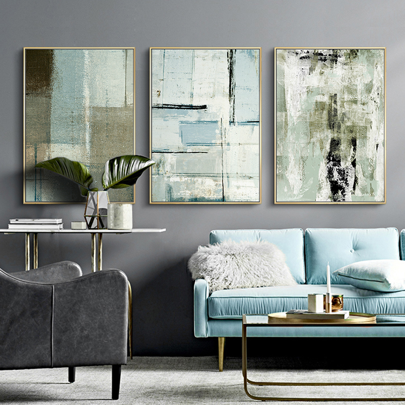 Living Room Decorative Paintings Modern Simple Background Wall Abstract Office Paintings Canvas Painting