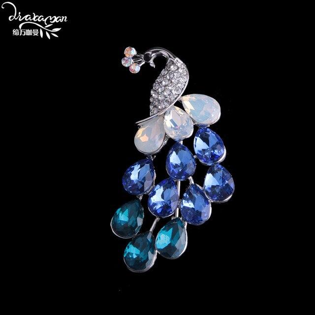 Delightful Dvacaman Brand Fashion Crane Crystal Brooches For Women Vintage Maxi Brooch  Pins Wedding Bridal Party Collar