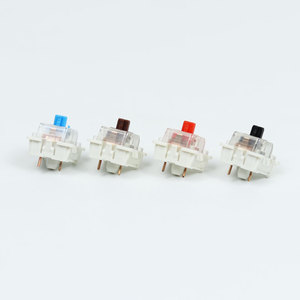 Image 4 - Outemu Switches mechanical keyboard black blue brown red key switch for CIY Sockets SMD 3pin Thin pins Compatible with MX switch