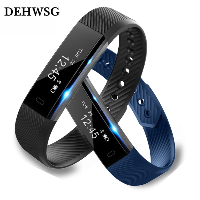 DEHWSG ID115 Smart Bracelet Fitness Tracker Step Counter Activity Monitor Band Alarm Clock Vibration Wristband for