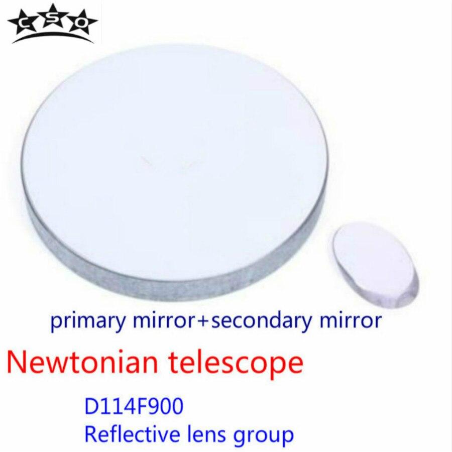 Newton'sche D114F900 Reflexion der Objektivlinse Gruppe Sekundäre Spiegel 114900 Teleskop Astronomic Professionelle Zubehör
