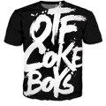 Hombres Y mujeres Harajuku Camisetas Otf Coke Niños Cartas de La Vendimia Camiseta de La Manera 3D Camiseta Ocasional de Hip Hop Tops Ropa