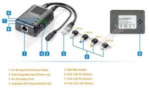 Image 5 - 100Mbps 4 تيار مستمر التوصيل 5 فولت 9 فولت 12 فولت قابل للتعديل شبكة PoE الخائن وحدة الطاقة عبر إيثرنت العرض 802.3af للكاميرا IP الأمن