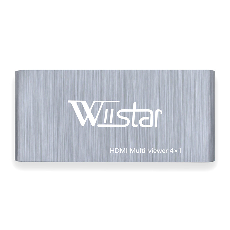 Wiistar HDMI 4x1 Quad Multi-Viewer With Seamless Switcher HDMI 4 In 1 Out And Support HDMI 1.3 HDCP 1.2 HDMI 4X1