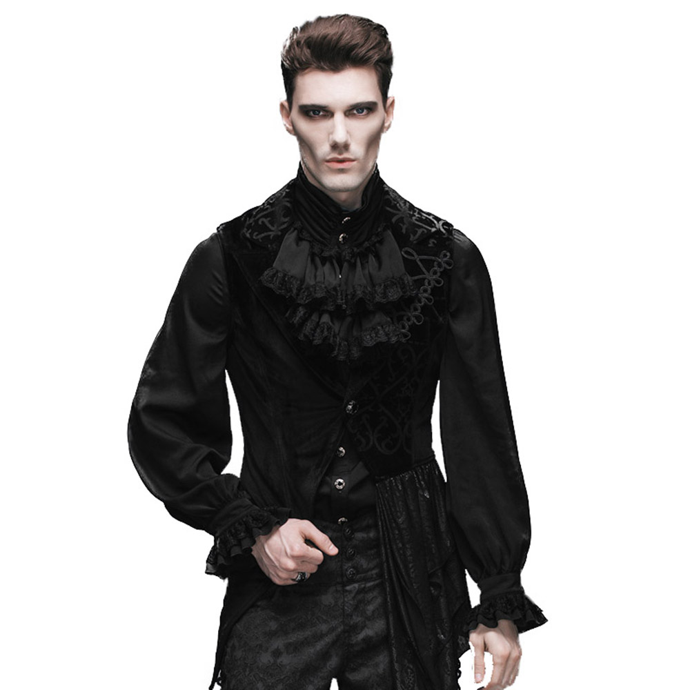 Steampunk Sleeveless Mann Mäntel Und Jacken Gothic Herren Asymmetrische Weste Winter Sleeveless Gilets Für Homme